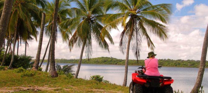 Passeio de quadriciclo na Península do Maraú – Bahia Brasil
