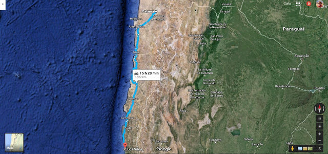 Terremoto no Chile e voltando para casa